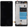 LCD DISPLAY TOUCH SCREEN COMPLETO PER HUAWEI P8 LITE NERO CON FRAME