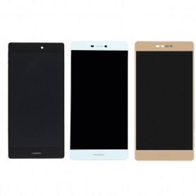 Lcd display touch screen con frame completo per Huawei p8