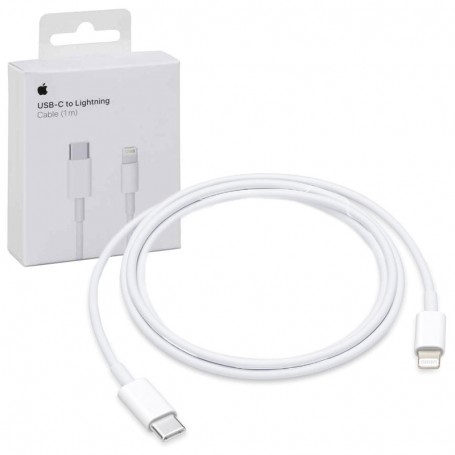 ORIGINAL APPLE CABLE MQGJ2ZM/A USB-C 1 METER WITH CONNECTOR TYPE- C LIGHTNING