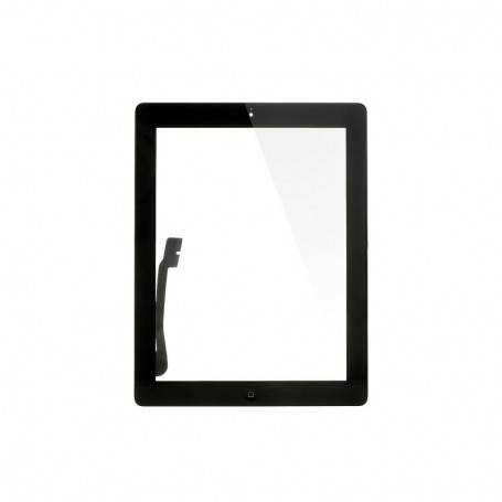 Touch screen glass with home key for Apple iPad 3 A2123, A2152, A2153, A2154 Black