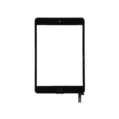 Touch screen glass with home key for Apple iPad Mini 4 A1538, A1550 Black