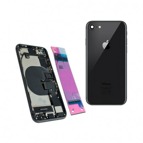 COMPLETE ORIGINAL BACK COVER FOR APPLE IPHONE 8 A1863 A1905 A1906 BLACK
