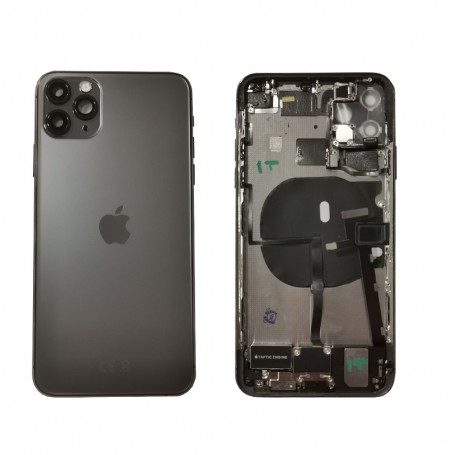 Scocca originale completa in vetro nera per Apple iPhone 11 Pro MAX A2161, A2220, A2218